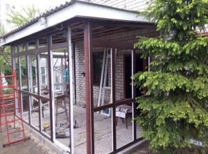 остекление веранды пластиковыми окнам Steko