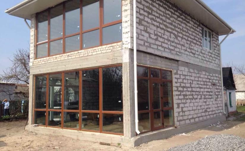 Остекление двухэтажного дома по ул.Передовая